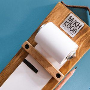 آویز چوبی کاغذ یادداشت رولی
