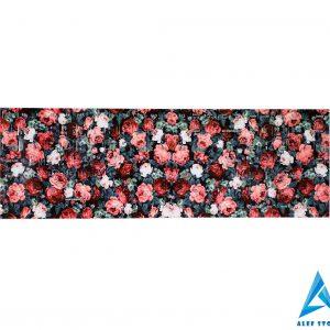 استیکر کیبورد طرح گل های بهاری با زمینه مشکی
