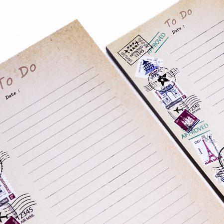 بسته کاغذ To do list- طرح تمبر پستی سایز بزرگ