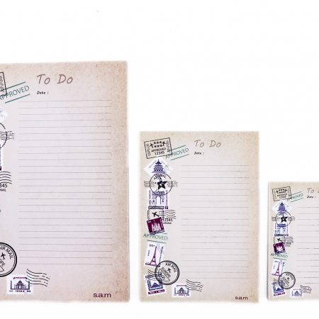 بسته کاغذ To do list- طرح تمبر پستی سایز متوسط