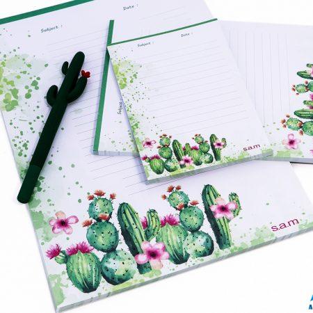 بسته کاغذ To do list- طرح کاکتوسی سایز متوسط