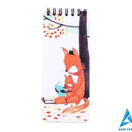 دفتریادداشت To Do List مستر نوت طرح روباه و بچه روباه