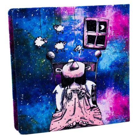 دفتر مربع خط دار رویا در کهکشهان