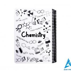 دفتر 100 برگ طرح شیمی - جلد طلقی