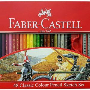 مداد رنگی 48 رنگ جعبه فلزی فابرکستل