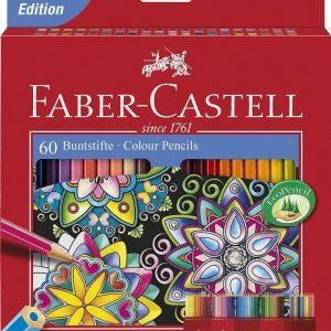 مداد رنگی 60 رنگ جعبه مقوایی فابرکستل