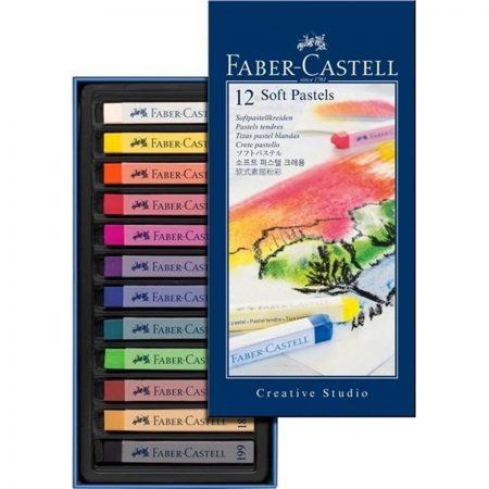 پاستل گچی 12 رنگ فابرکستل مدل Creative Studio